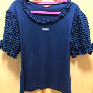 ピンクハウス(PINK HOUSE)のピンクハウス❤️袖フリルカットソー(カットソー(半袖/袖なし))