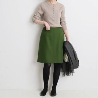 IENA - 新品タグ付き IENA メルトン台形スカート サイズ38