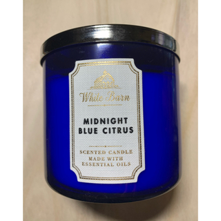 バスアンドボディーワークス(Bath & Body Works)の3芯キャンドルMIDNIGHT BLUE CITRUS(アロマ/キャンドル)