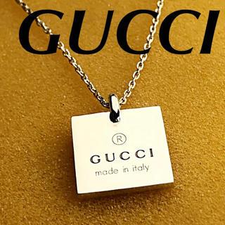 Gucci - 美品 GUCCI スクエアプレートネックレス