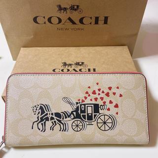 COACH - coach財布ロデオベージュラウンドファスナー