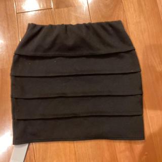 リゼクシー(RESEXXY)のRESEXXY 台形 ミニスカート ブラック(ミニスカート)