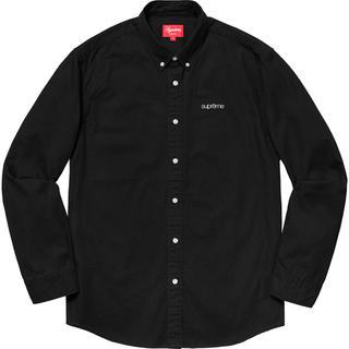 Supreme - 試着なし XL Supreme Washed Twill Shirt Black