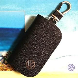 フォルクスワーゲン(Volkswagen)のVW スマートキーケース 本革レザー風 ビジネス カラビナ付(キーケース)