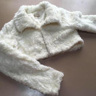 リズリサ(LIZ LISA)のLiz Lisaリズリサ ファージャケット 白 (毛皮/ファーコート)