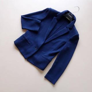 EPOCA - ■エポカ■ 40 着やせニットジャケット ネイビー EPOCA
