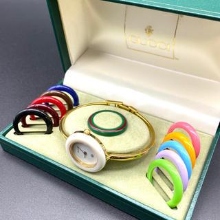 Gucci - 良品☆GUCCI チェンジベゼル Mサイズ レディース腕時計