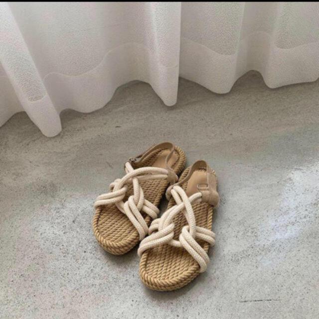 Kastane(カスタネ)のAmiur  natural rope sandal  Lsize レディースの靴/シューズ(サンダル)の商品写真