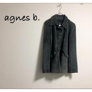 アニエスベー(agnes b.)の古着 agnes b アニエスベー レザー スエード ジャケット モード(テーラードジャケット)