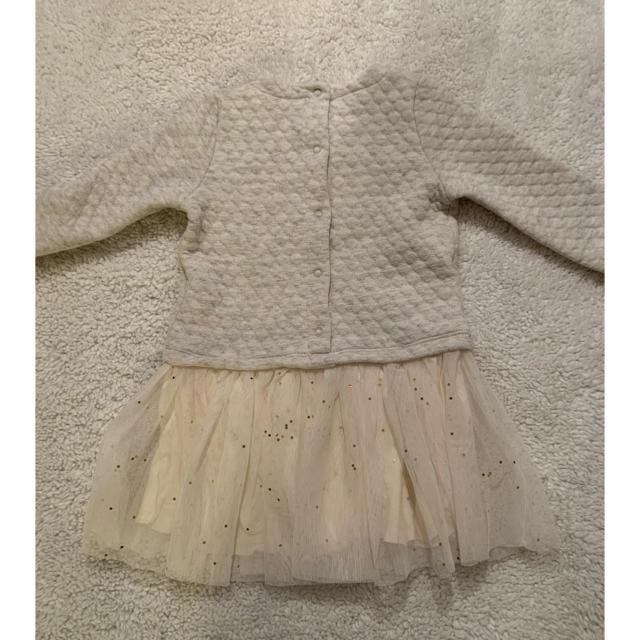 PETIT BATEAU(プチバトー)のプチバトー チュールワンピース 星 ノエル チュビック 18m 80 キッズ/ベビー/マタニティのベビー服(~85cm)(ワンピース)の商品写真