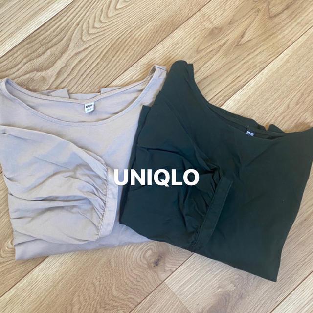 UNIQLO(ユニクロ)のUNIQLO 半袖カットソー2枚セット レディースのトップス(カットソー(半袖/袖なし))の商品写真
