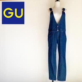 GU - 完売品『GU』デニム サロペット テーパード パンツ オーバーオール XL