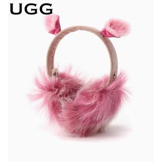 """アグ(UGG)の【ギフト‼️】UGG FLUEF SQUAD EARMUFF """"ピンク""""(イヤーマフ)"""