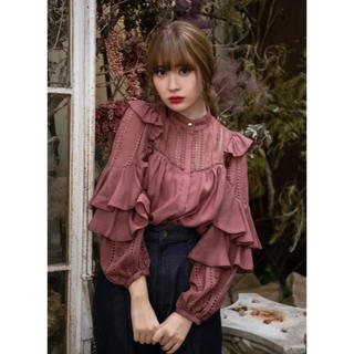herlipto  puffed sleeve lace blouse