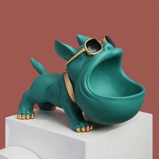 ブルドッグ犬収納装飾家の装飾コーヒーテーブルリビングルーム現代の新築祝いの贈り