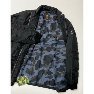 A BATHING APE - 新品 A BATHING APE NYLON JACKET ブラック エイプ