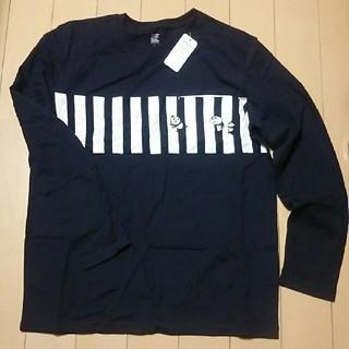 Design Tshirts Store graniph - 未使用 グラニフ 長袖 ティーシャツ L パンダ ネイビー