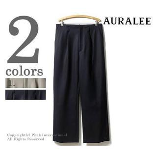 COMOLI - AURALEE melton wide slacks pants メルトンパンツ