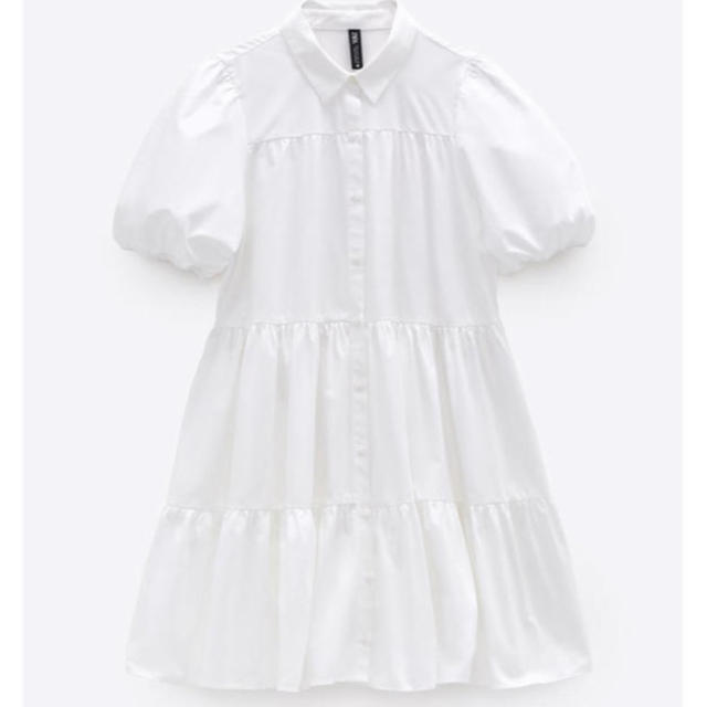 ZARA(ザラ)の❤︎ whiteonepiece ❤︎ レディースのワンピース(ひざ丈ワンピース)の商品写真