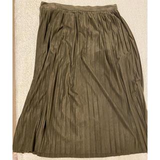ザラ(ZARA)のZARA スウェードタッチ プリーツスカート(ひざ丈スカート)