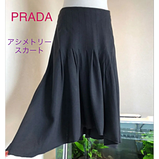 プラダ(PRADA)のPRADA☆アシメトリー スカート♡オシャレ♪(´∀`*)(ひざ丈スカート)