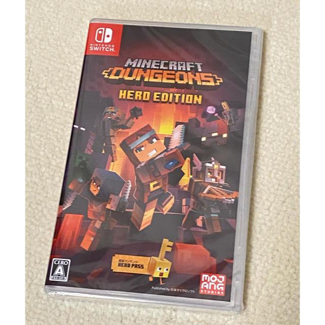 Nintendo Switch(ニンテンドースイッチ)のMinecraft  dungeones hero edition Switch エンタメ/ホビーのゲームソフト/ゲーム機本体(家庭用ゲームソフト)の商品写真