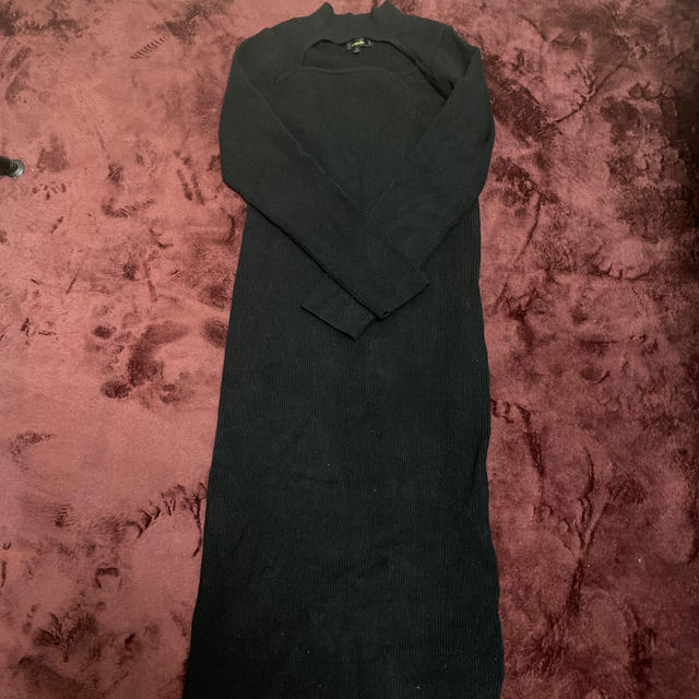 rienda(リエンダ)のリエンダ 黒 ニットワンピース レディースのワンピース(ロングワンピース/マキシワンピース)の商品写真