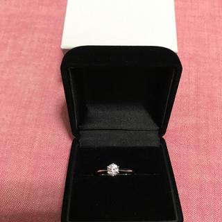 プライベリテ(pricerite)のPtダイヤリング グレーディングボード付き(リング(指輪))