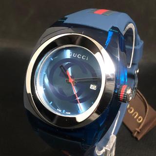 Gucci - ★新品 未使用 グッチ GUCCI SYNC XXLクオーツ ブルーメンズ腕時計