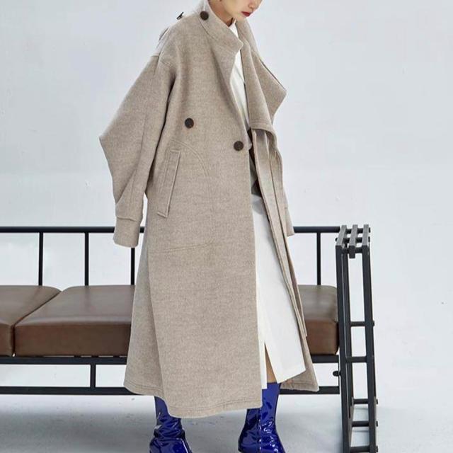 Jil Sander(ジルサンダー)の【AAA様専用】オーバーサイズデザインコート レディースのジャケット/アウター(ロングコート)の商品写真