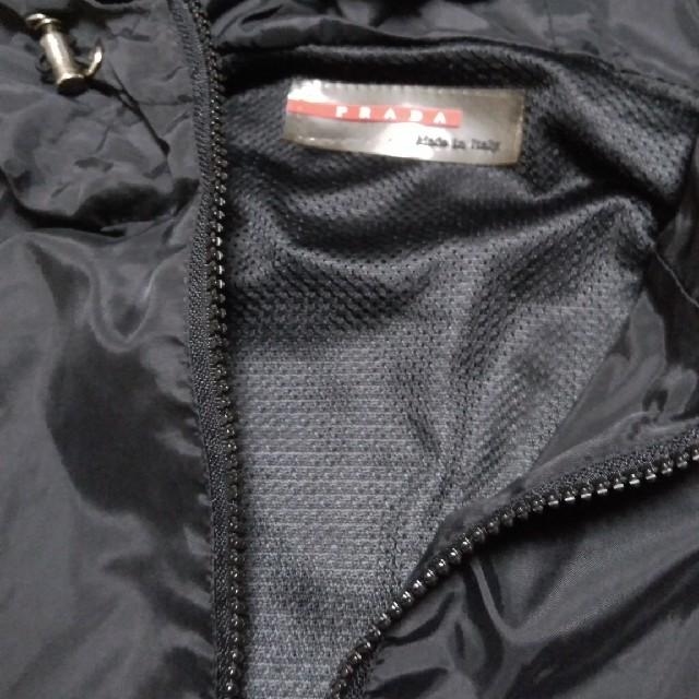 PRADA(プラダ)の訳あり PRADA プラダ ナイロン ジャケット 黒 メッシュ メンズのジャケット/アウター(ナイロンジャケット)の商品写真