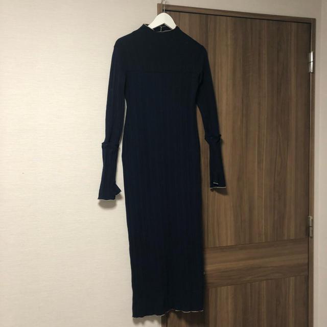 TODAYFUL(トゥデイフル)のtodayful Piping Rib Dress ニットワンピース レディースのトップス(ニット/セーター)の商品写真
