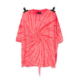 PEACEMINUSONE - [タイムセール]PEACEMINUSONE PMO タイダイTシャツ RED#5