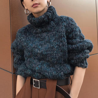 Ameri VINTAGE - アメリヴィンテージ ITALY MIX YARN TUCK KNIT