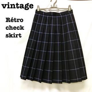Lochie - 美品【 vintage 】 チェックスカート レトロスカート プリーツスカート