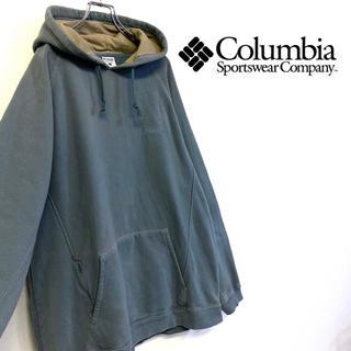 コロンビア(Columbia)の美品 Columbia 刺繍ロゴ スウェットパーカー メンズXL 大きいサイズ(パーカー)