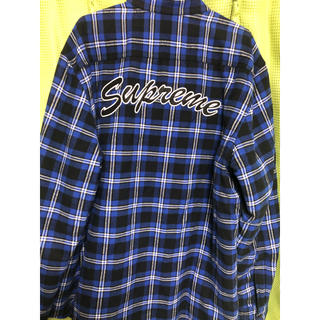 Supreme - Supreme Arc Logo Quilted Flannel Shirt