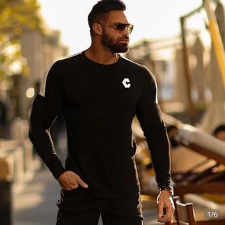 ジムマスター(GYM MASTER)の新品クロノスcronos 黒ロンT 長袖カットソー筋トレジム リフトLYFT(Tシャツ/カットソー(七分/長袖))
