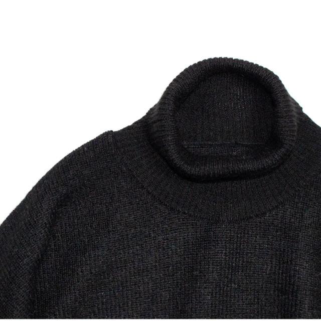 新品未使用 yoke ベビーアルパカ タートルネックニット M ブラック メンズのトップス(ニット/セーター)の商品写真