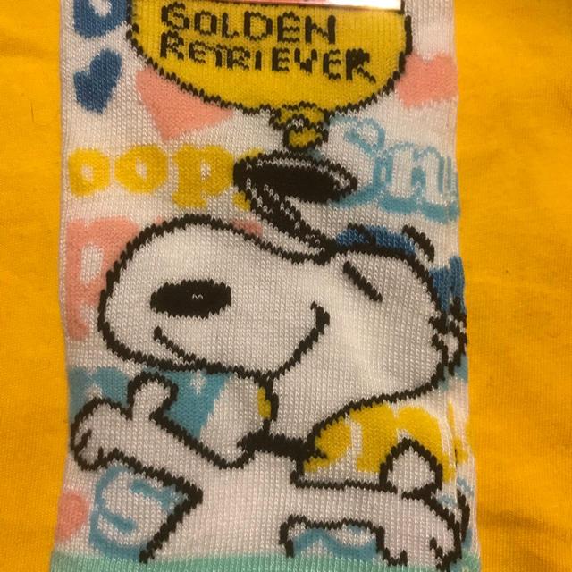 SNOOPY(スヌーピー)のスヌーピー SNOOPY PEANUTS 靴下 ソックス レディース カラフル  レディースのレッグウェア(ソックス)の商品写真