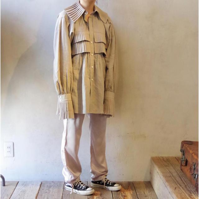 jonnlynx(ジョンリンクス)のJUN MIKAMI ジュンミカミ リネンフリルシャツ レディースのトップス(シャツ/ブラウス(長袖/七分))の商品写真