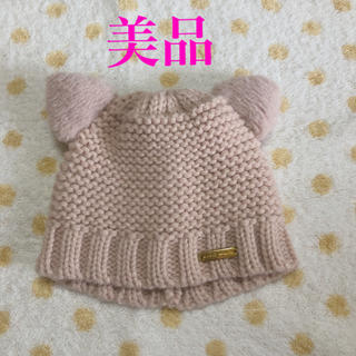 petit main - プティマイン 猫耳 ニット帽