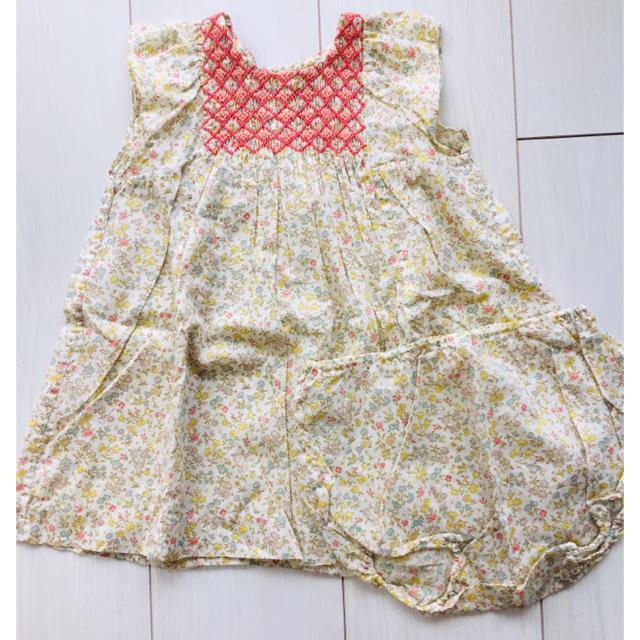 Bonpoint(ボンポワン)のボンポワン  ワンピース キッズ/ベビー/マタニティのキッズ服女の子用(90cm~)(ワンピース)の商品写真