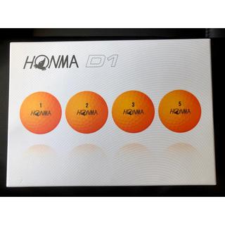 本間ゴルフ ホンマ D1ゴルフボール ニュータイプ(1ダース12球)オレンジ