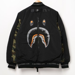 A BATHING APE - A BATHING APE SHARK BOMBER JACKET Mサイズ