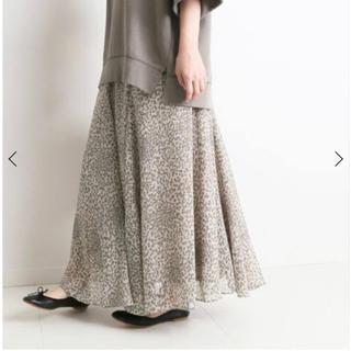 IENA SLOBE - SLOBE IENA  レオパード柄のフレアスカート