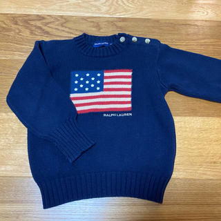 ラルフローレン(Ralph Lauren)のラルフローレン 星条旗 コットンニット セーター 100(ニット)