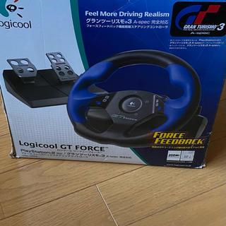 プレイステーション(PlayStation)のLogicool GT FORCE ステアリングコントローラー(その他)