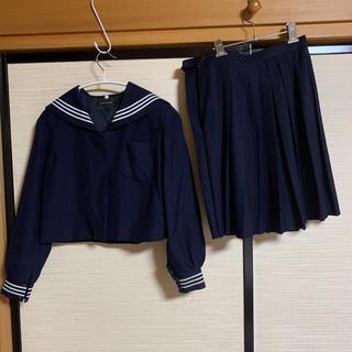 【こころさま専用】栃木県立某女子高生 制服 セーラー 冬用 上下セット(衣装)