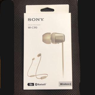 SONY - ソニー ワイヤレスイヤホン WI-C310 新品未開封 SONY ゴールド
